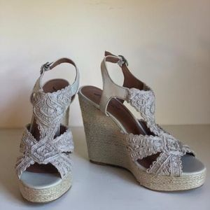Lucky Brand Espadrille Wedges- Never Worn!